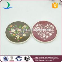 Mini placa de forma redonda para decoração de casa com patten bonito