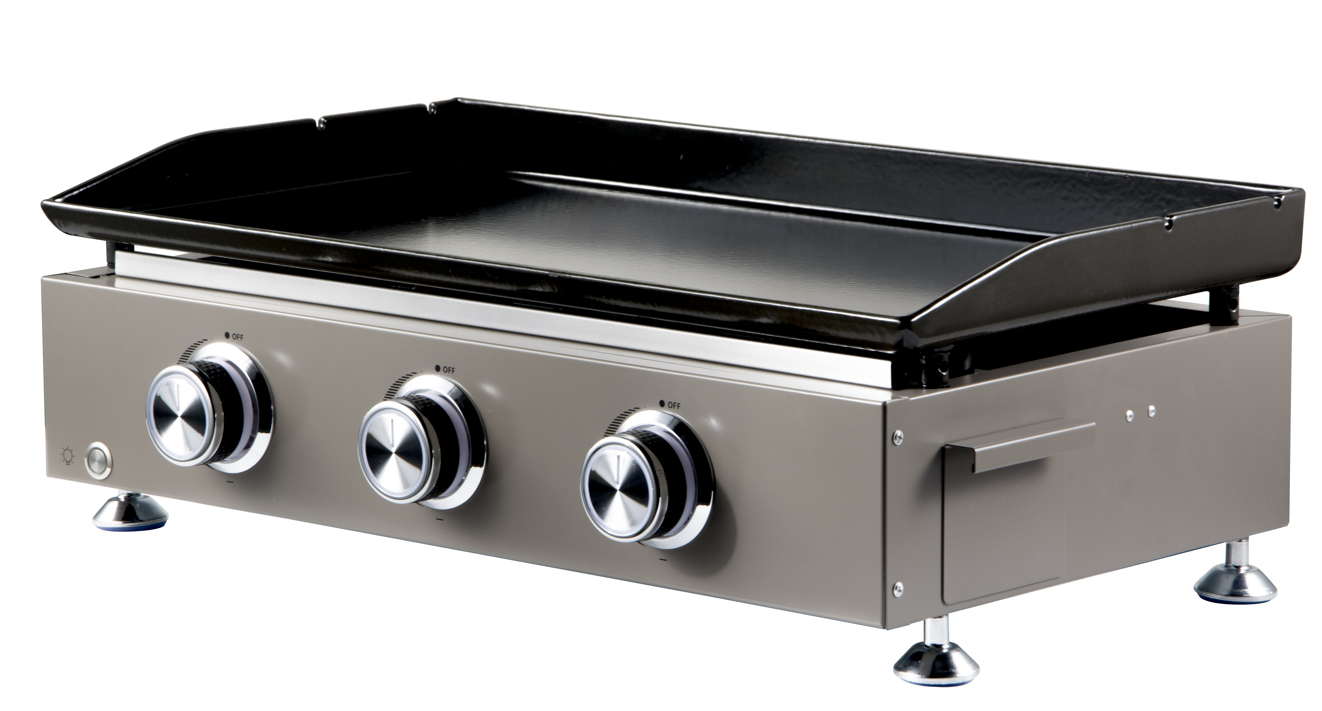 3 Burners Flat Top Propane Grill