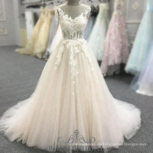A-Line Pink Open Back ärmellose Ballkleider mit Perlen Halfter Abendkleid Langes Kleid