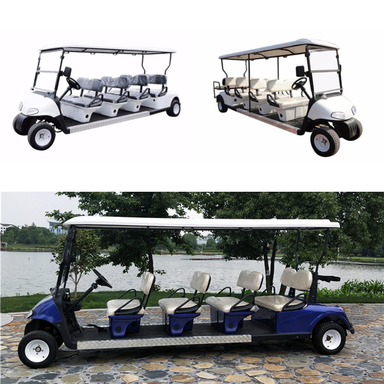 8 Seaters Golf Carts with 2 rear seats