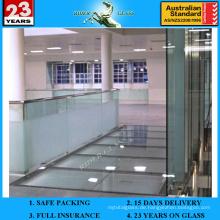 12mm mit AS / NZS2208: 1996 Dick gehärtetes Glas