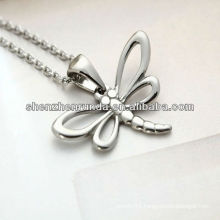 Animal dragonfly irregular fashion personality stainless steel girl necklace