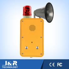 Teléfono de radiodifusión de emergencia, teléfono al aire libre impermeable, teléfono industrial pesado