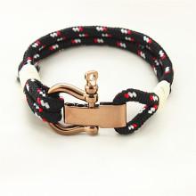 New arrival mens nylon fishnet tube rope bracelet from Runda