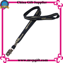 Black Lanyard with Printed Logo