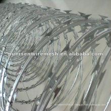 Arame farpado Concertina Razor Barbed Wire Manufacturing