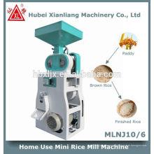 uso en el hogar mini pequeña máquina de molino de arroz conjunto completo