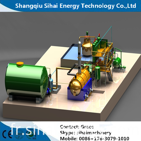 distillation plant in 3D