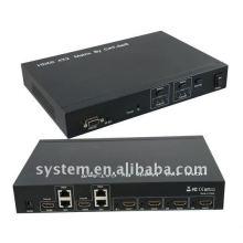 HDMI 4X2 Matrix von CAT-5e / 6