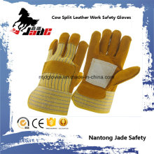 Brown Cowhide Split Leather Industrial Safety Work Glove