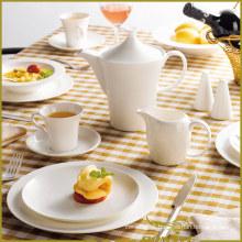 10 PCS Ceramic Tableware Free Circular Lines Series