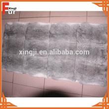 Fábrica china al por mayor Chinchilla Grey Rabbit Fur Plate
