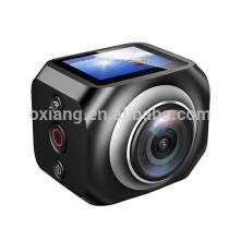 Сбывание фабрики сразу 360 градусов вращения камеры 1440Р/30 кадров в секунду камера действий спорта 12mp беспроводной часы пульт дистанционного управления видео камерой