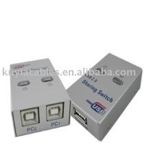 Interruptor de partilha USB 2.0 Interruptor USB 2 PC para 1 Impressora / Scanner