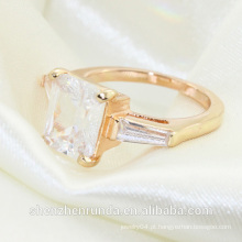 2014 moda diamante solitaire anéis de noivado jóias