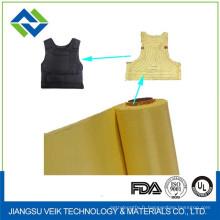 pas de fumée en brûlant les tissus en Kevlar de 0,47 mm d'épaisseur de couleur jaune ou noire