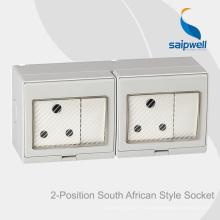 Водонепроницаемый выключатель и розетка для поверхностного монтажа Saipwell высокого качества для Южной Африки
