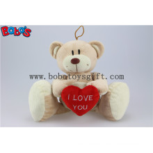 China Manufactured Big Feet Teddy Bear Toy with Red Heart Bos1118