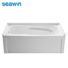 Seawin Luxury Hotel Fiberglass Deep Soaking Acrylic Bathtub Build In