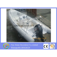 6,8 m Ce Fiberglas Rib Sportboot, Fischerboot
