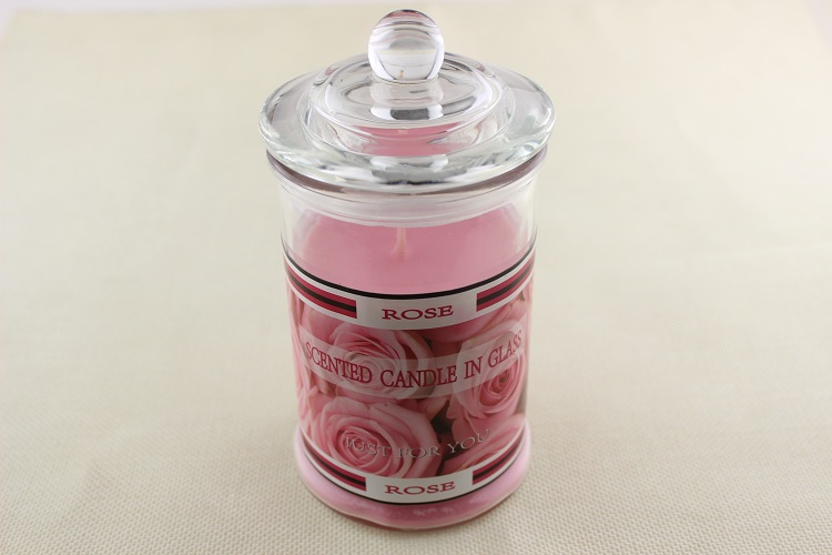 Rose scent jar candle