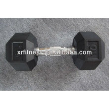 Supplier Gym Equipment Fixed Rubber Coated Hex Dumbbell