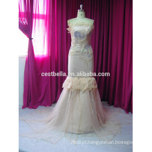 Estilo de Dubai branco mais tamanho vestido de casamento muçulmano