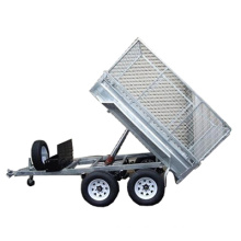Tandem tipping cage trailer