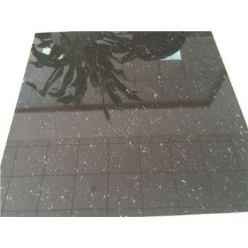 Azulejos de piso de porcelana pulida negra estupenda
