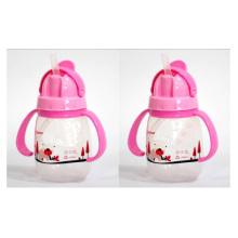250ml Hot Sale Slide Lid Design Kids Water Bottle com palha e alça