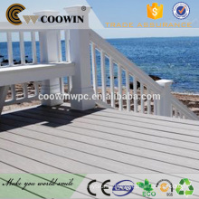 Waterproof solid plastic timber composite decking for docks