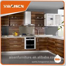 modern grain style melamine faced kitchen cabinet