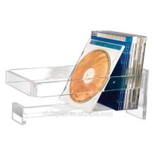 High Clear Wand-montiert Acryl CD-Halter