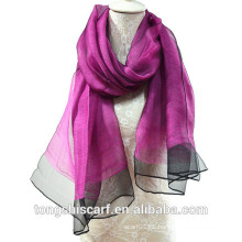 Newest lady's fashion cheap wholesale dreamy light weight double layers yarn dyed blended viscose silk scarf shawl