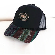 W-Shape Insert Embroidery Brushed Cotton Twill Racing Cap