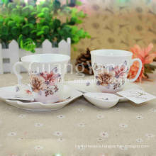 Different Beautiful Flowers Printing Porcelain Enameled Cup Logo For Kitchen Ware, Table Ware,Etc