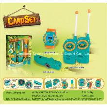 Boutique Playhouse Plastic Toy-Camping Set com Smart Watch & Interphone