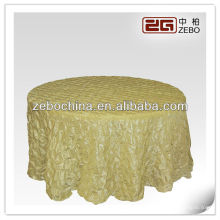 New and fashion design direct factory made wholesale custom decorative round table cloth