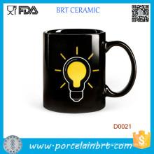 Lamp Bulb Heat Sensitive Ceramic Coffee Mug