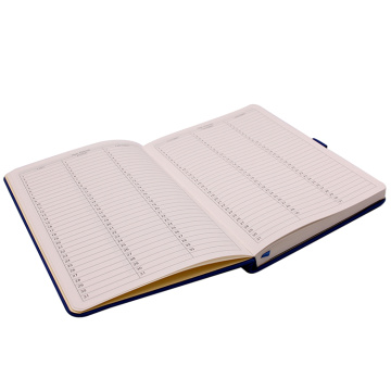 A5 Hardcover Custom Leather Notebook dengan Pen Holder