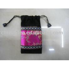 bolsa de terciopelo del lazo