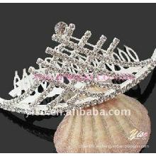 Peine de tiara de cristal de encanto