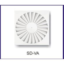 swirling air diffuser HVAC air radiator