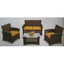 KD 4PCS barato mobília ao ar livre do sofá do Rattan