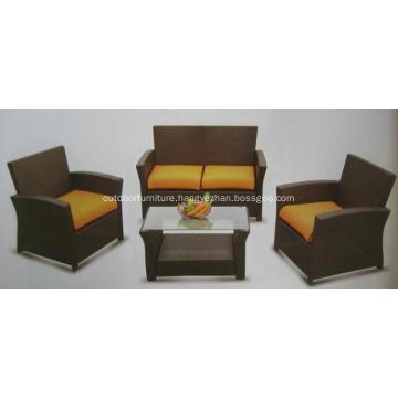 KD 4PCS Cheap Outdoor Furniture Rattan Sofa