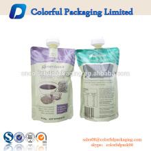 100 ml 200 ml bolsa de embalagem de plástico saco de bico transparente bico bolsa de bebida de energia transparente