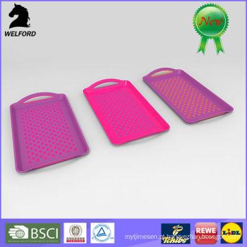 LFGB Passou Non-Slip Plástico Bandeja de Serviço