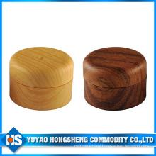25g 30g Cream Plastic Jar with Wood Color