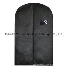 Custom Black Non-Woven Travel Suit Cover Bag