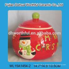 С Рождеством Христовым снеговик форму керамической банке для хранения для хранения